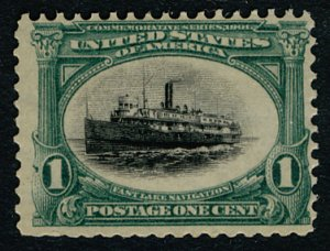 US #294 SCV $110.00 VF/XF mint never hinged, super fresh colors,  nice stamp!...