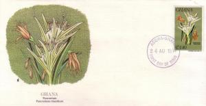 Ghana FDC SC# 922 Pancratium Flower L165