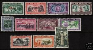 NEW ZEALAND 1940   CENTENNIAL OFFICIAL SET 11  MLH