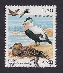 Aland islands  #12   used  1987   birds 1.70m