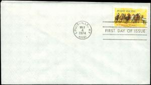 US FDC #1528 First Day Cover Louisville, KY Horse Racing