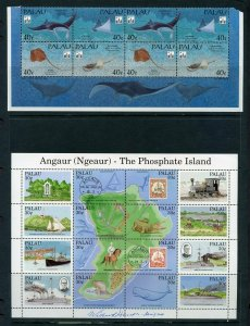 PALAU CLOSEOUT LOT OF MINT NEVER HINGED SHEETS AND ONE SET FACE VALUE  $100+++