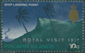 Pitcairn Islands 1971 SG115 10c Royal Visit ovpt FU