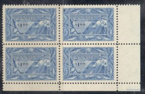 Canada #302 XF NH LR Corner Block - Fishing Resources C$300.00