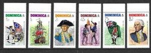 Dominica 472-77   1976 set 6   VF  NH