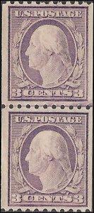 489 Mint,OG,NH... Line Pair.. SCV $70.00
