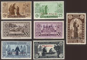 Somalia #129-35 cpl MH St. Anthony