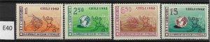 [E-40] -Albania 1962, Soccer Chili, Mi673-676, MNH