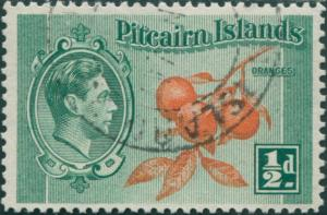 Pitcairn Islands 1940 SG1 ½d Oranges FU