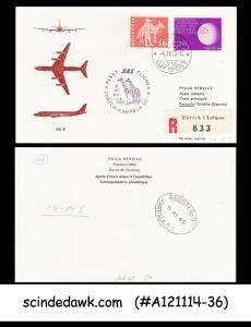 SWITZERLAND - 1965 SAS FLIGHT DC-8 ZURICH TO KAMPALA UGANDA - 2V - FFC REGISTERE