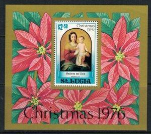 St. Lucia #409-13* NH  CV $2.85  Christmas 1976 issue & souvenir sheet