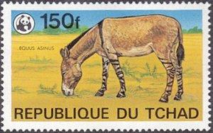 Chad # 371 mnh ~ 150f Wild Donkey (legs have zebra stripes