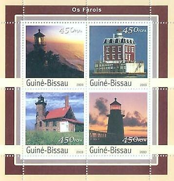 Guinea-Bissau - Lighthouses - 4 Stamp  Sheet GB3136