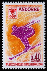 French Andorra Scott 181 (1968) Mint NH VF C