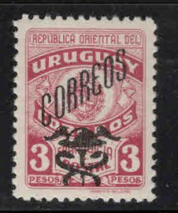 Uruguay Scott 553 mint hinged overprint stamp