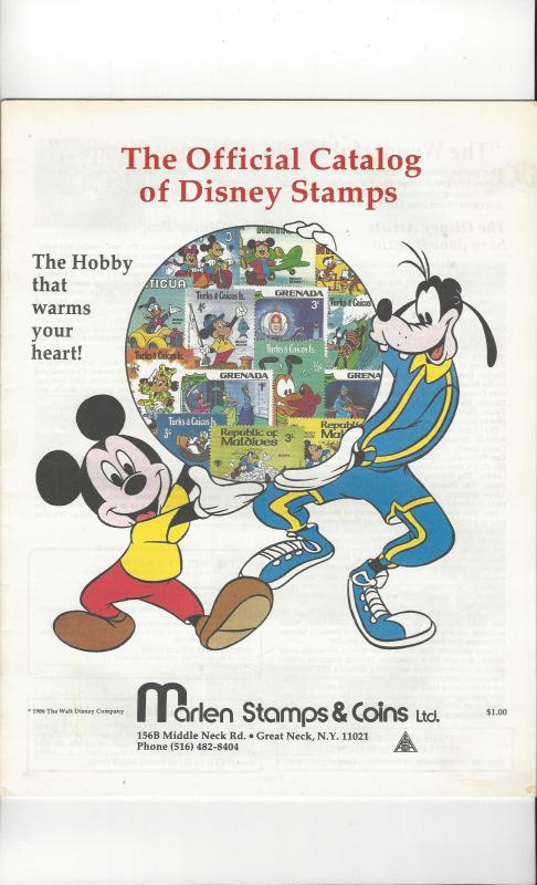 Official Catalog of Disney Stamps, Marlen 1986 24 pages.