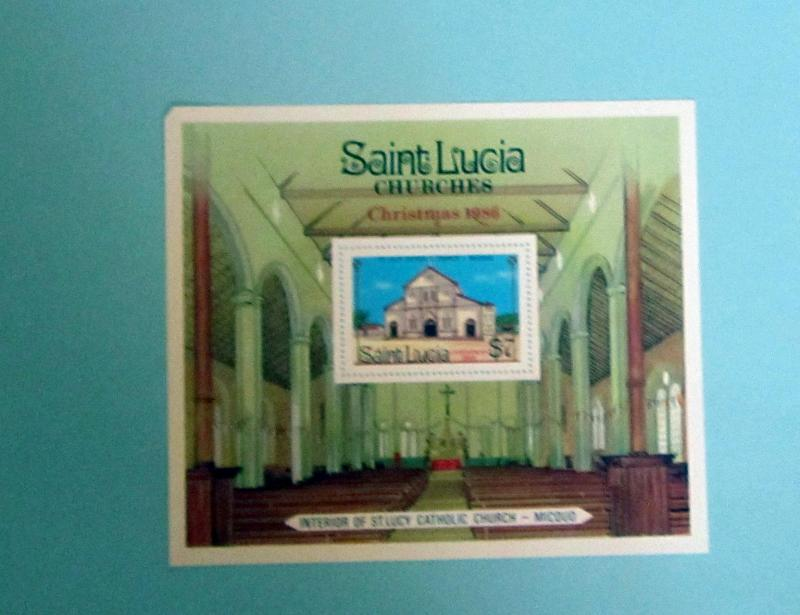 St. Lucia - 871, MNH S/S. Christmas. SCV - $3.50