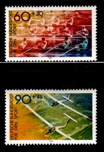 Germany Sc B587-8 1981 Sports stamp set mint NH