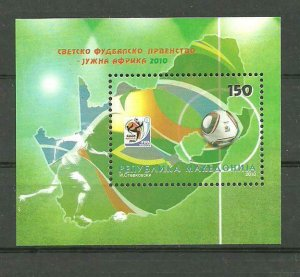 Macedonia 2010 Soccer, Football, FIFA World Cup, South Africa, Sport, block MNH