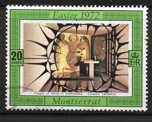 Montserrat 276: 20c Chapel, Coventry Cathedral, used, F-VF