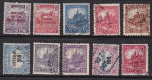 HUNGARY ^^^^1939-40 used collection  $$@cam1950hung