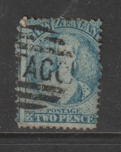 New Zealand a used QV 2d blue full face queen from 1862