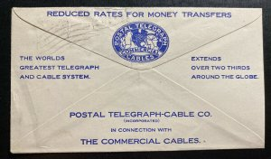 1910 Canton OH USA Commercial Cable Telegraph Cover Locally Used