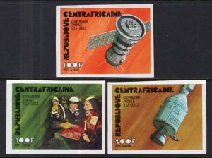 Central African Republic C135-C137 Space Imperfs MNH VF