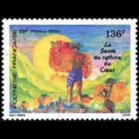FR.POLYNESIA 1992 - Scott# 591 Health Day Set of 1 NH