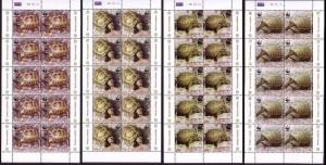 Armenia WWF Four-toed Tortoise 4 Sheetlets of 10 stamps each 10 sets SG#605-608
