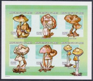 Mali. 2000. 2546B-51B 2552B-57B. Flora mushrooms. MNH.