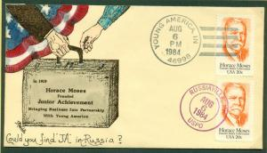 #2095 FDC 1/5 HAND PAINTED BY T MICHAEL WEDDLE BL BU600