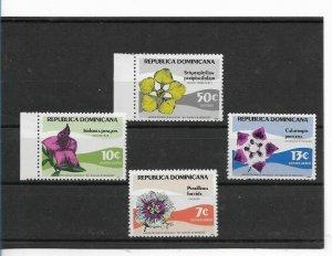 REPUBLICA DOMINICANA DOMINICAN REP. 1979 FLOWERS SET OF FOUR SCOTT 810 C293/95
