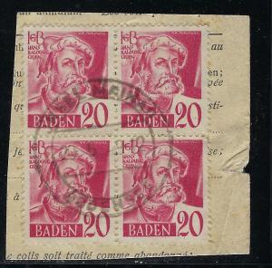 Germany - under French occupation Scott # 5N37, used, b/4, opp