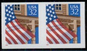 US #2913a. 32¢ Flag Over Porch, Imperf pair, og, NH, VF