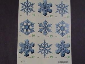 U.S.# 4113-4116(4116b)-MINT/NH-ATM-BOOKLET PANE OF 18--SNOWFLAKES--2006