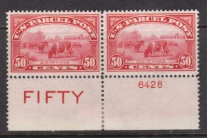 USA #Q10 NH Mint Plate Imprint Pair