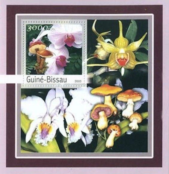 Guinea-Bissau - Orchids & Mushrooms Stamp S/S - GB3132