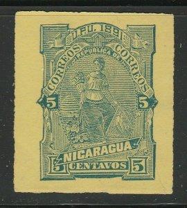 Nicaragua Postal Stationery Cut Out A17P5F822