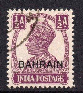 Bahrain 1942 KGVI ½a purple SG 39 used