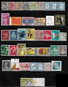 12319 Netherlands 39 different used stamps SCV $??? - at only a nickel a stamp