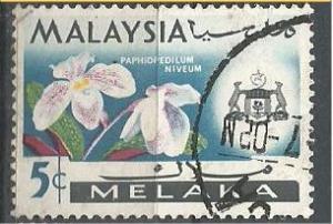 MALACCA, 1965, used 5c, Orchid. Scott 69