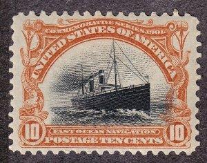 US 299 10c Fast Ocean Navigation Mint OG PH VF