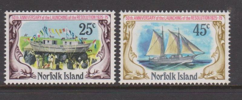 Norfolk Island 1975 Launching of the Resolution Set Sc#192-193 MNH