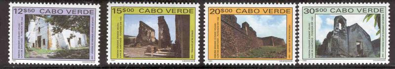 CAPE VERDE 604-7 MNH LANDMARKS IN OLD RIBERIA 43016