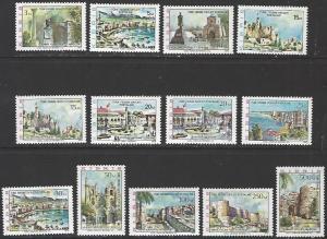 Northern Cyprus #10-22 MNH Set of 13 cv $16.70