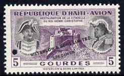 Haiti 1954 Restoration of Christophe's Citadel 5g in unis...