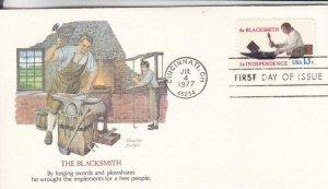 1977, The Blacksmith, Fleetwood, FDC (E8024)