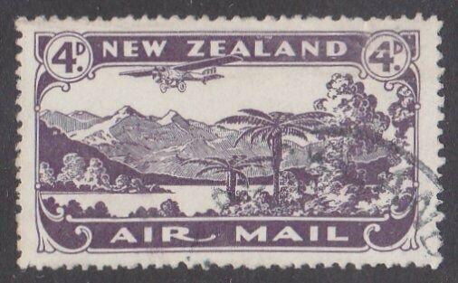 NEW ZEALAND 1931 4d airmail fine used - ACS cat NZ$30.......................M451