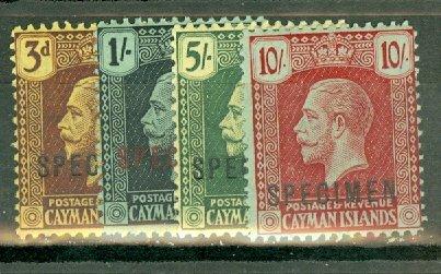 B: Cayman Islands 64, 66-68 mint SPECIMEN overprints (Gibbons x3) CV $290